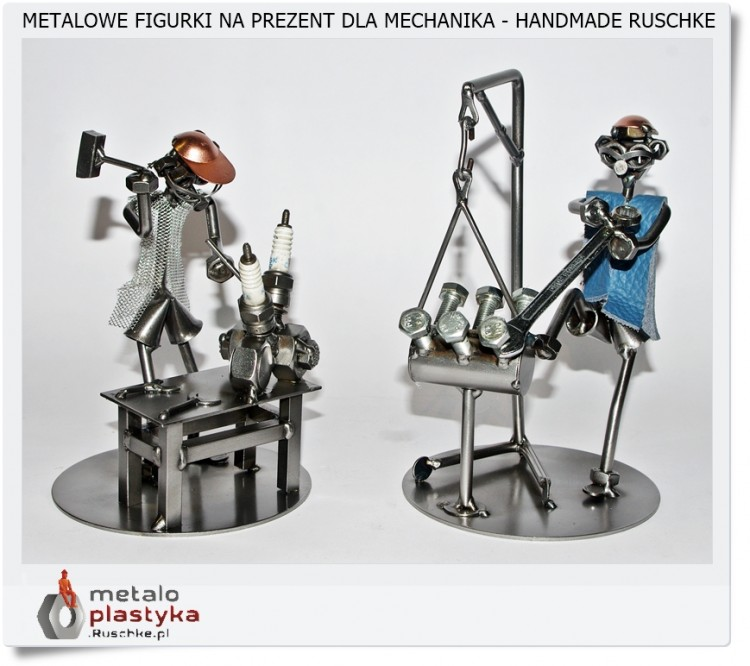 Dla mechanika metalowa figurka to udany prezent
