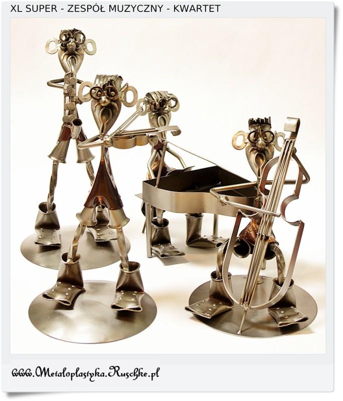 metalowe figurki muzyków