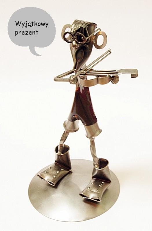figurka muzyk skrzypek