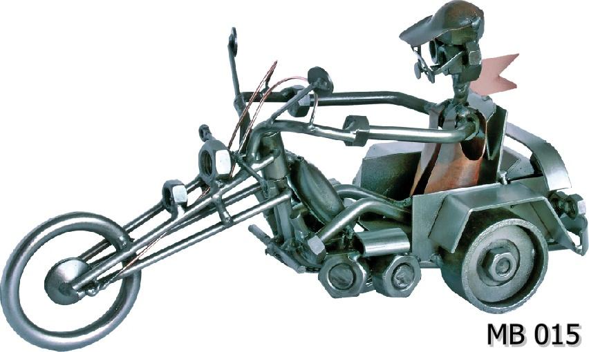 Metalowy model trójkołowiec Trojka