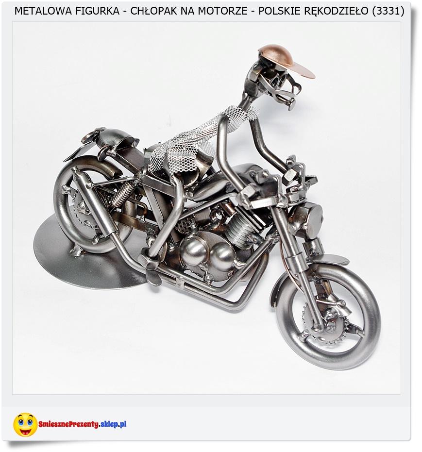Prezent dla kolegi figurka z motocyklem