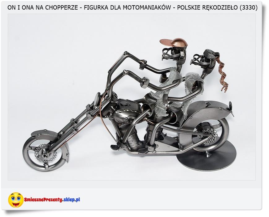 Figurka para na motorze, motocyklu