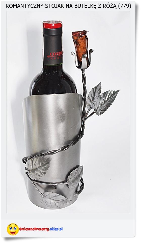 stojak na butelkę róża dla zakochanych